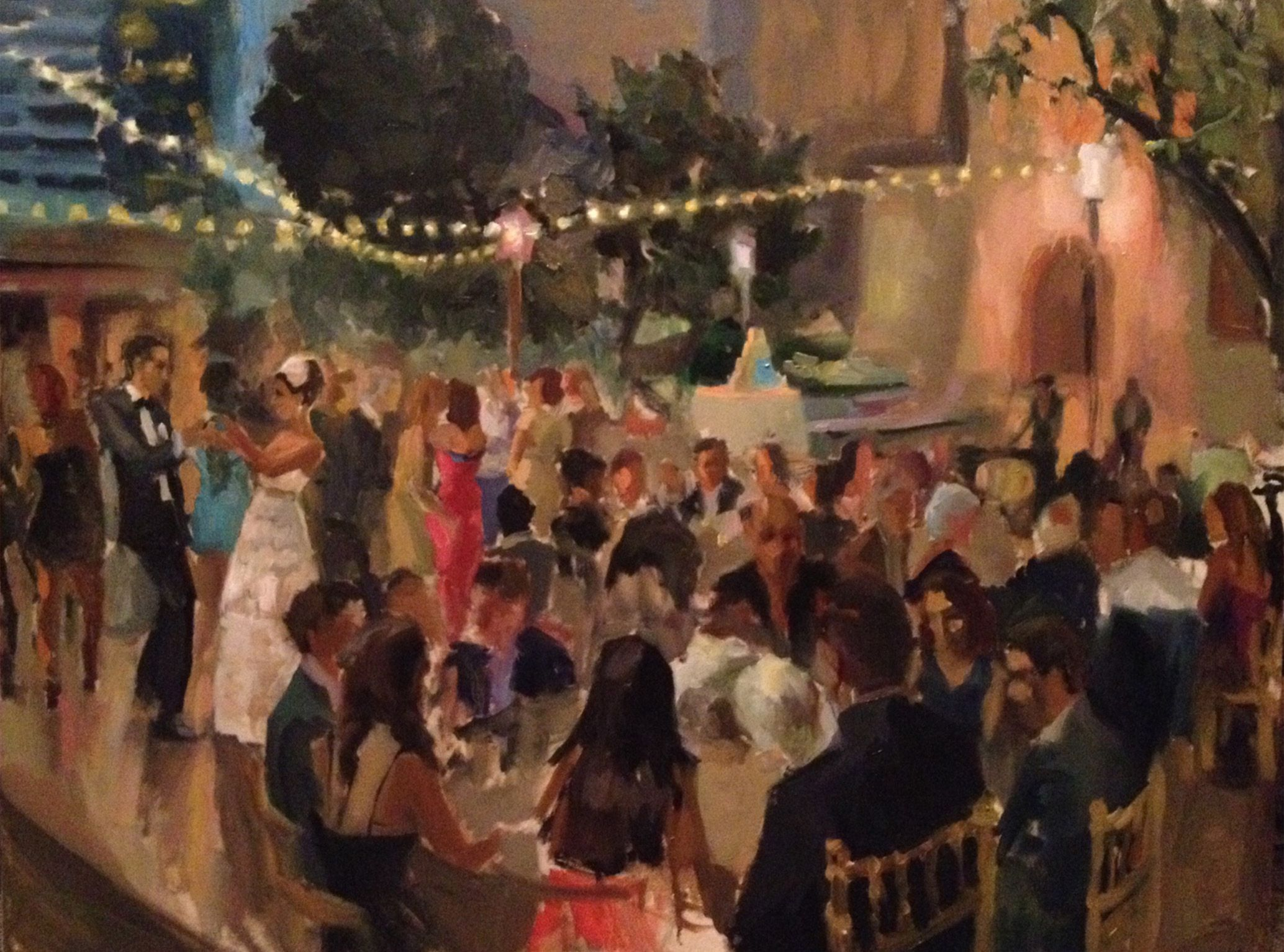 Painted this night scene of an outdoor Persian Wedding in the ...