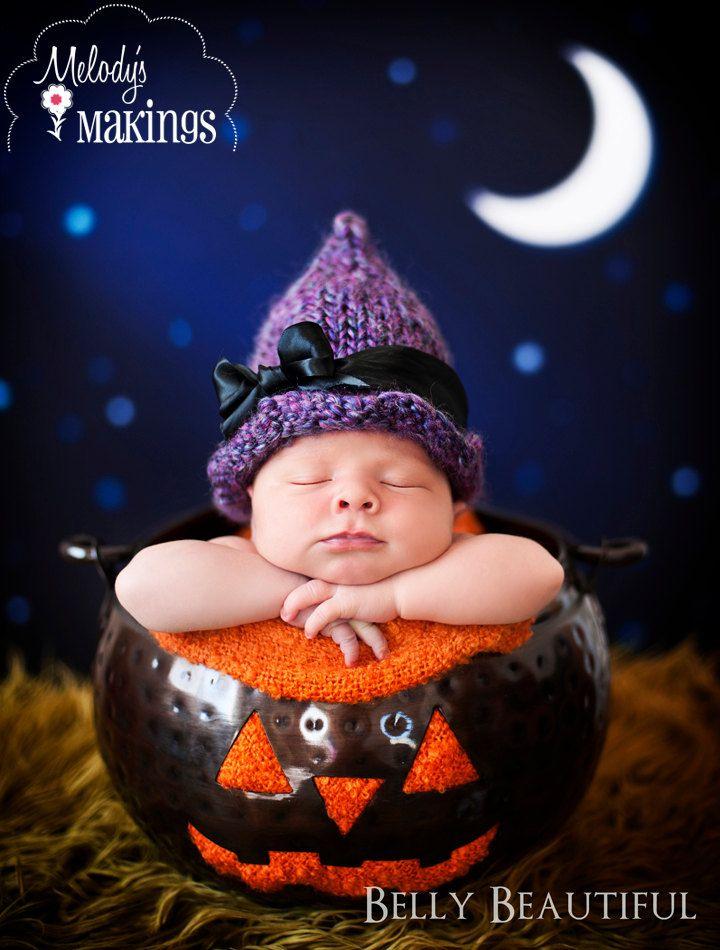 Witch Hat Knitting Pattern - 6 Sizes - PDF | Crochet/knit children\'s ...
