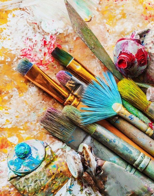 поиск, картинки художники кисти краски гостиная