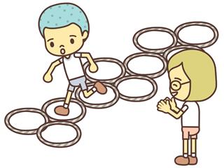 【レクレエーションゲーム名】 ケンケンパ遊び。 【事前準備と道具の作り方】 新聞紙をねじって輪を作ります。 &…もしもし亀よ亀さんよに乗せてやる