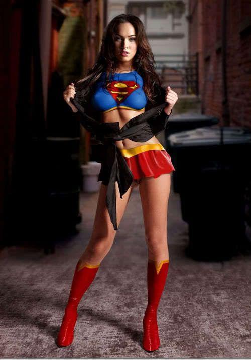 76fdd0b20c Superhero Body Paint Embodies Sexy Girl Power