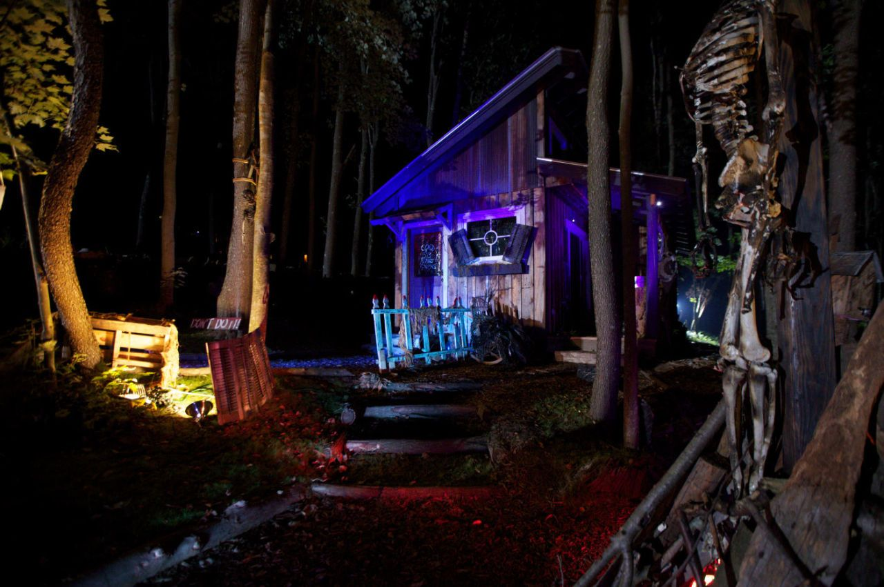This Is What a Tiny House Looks Like Decorated for Halloween  - CountryLiving.com