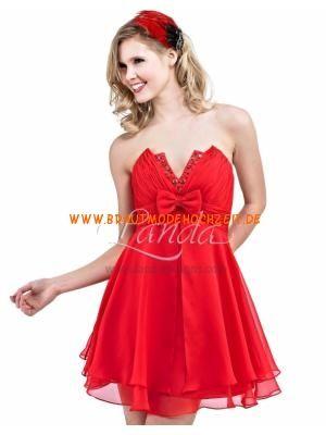 Rot Schenkellang Suss Ruckenfrei Abendkleider Kurz Aus Chi Red Homecoming Dresses Red Prom Dress Cute Prom Dresses