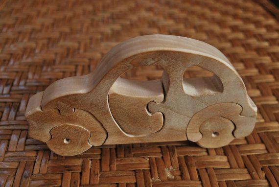 Car puzzle Wooden Car Puzzle Retro Car Puzzle by CarpathiansWood