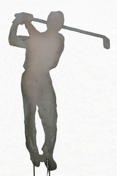 Der golfer skulptur aus 3 mm stahlblech plasmagetrennt for Gartenschmuck aus metall