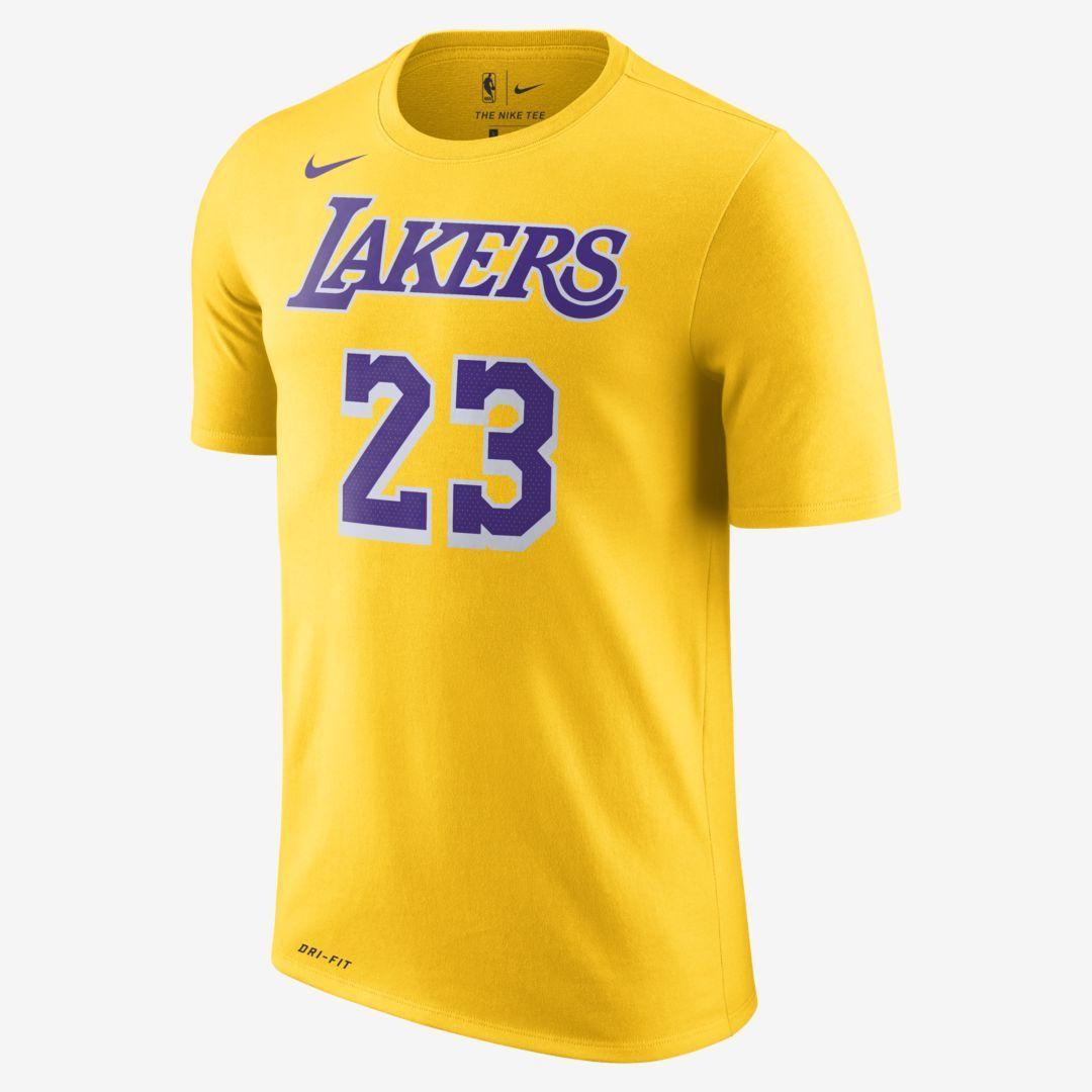 Lebron James Los Angeles Lakers Nike Dri Fit Men S Nba T Shirt Nike Com Nba T Shirts Lebron James Yellow T Shirt [ 1080 x 1080 Pixel ]