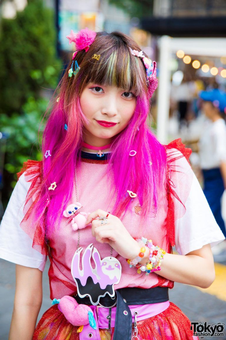 d141d5c74 Pink-Haired Harajuku Girl in Kawaii Fashion w/ WC x Esther Kim, Miya  Nishiyama, 6%DokiDoki, WEGO, Gemme, Sakura Pop Candy, Candy Stripper,  Bubbles & Spinns