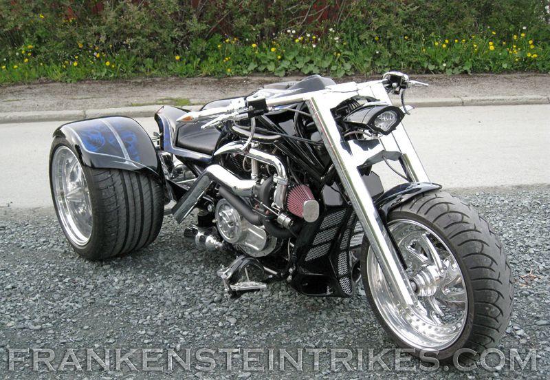 frankenstein trikes custom V-Rod trike   botes   Harley davidson