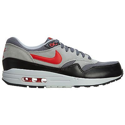 timeless design 34d99 bfc2f Nike Air Max 1 Essential Mens 537383-016 Grey Red Black Running Shoes Size 8