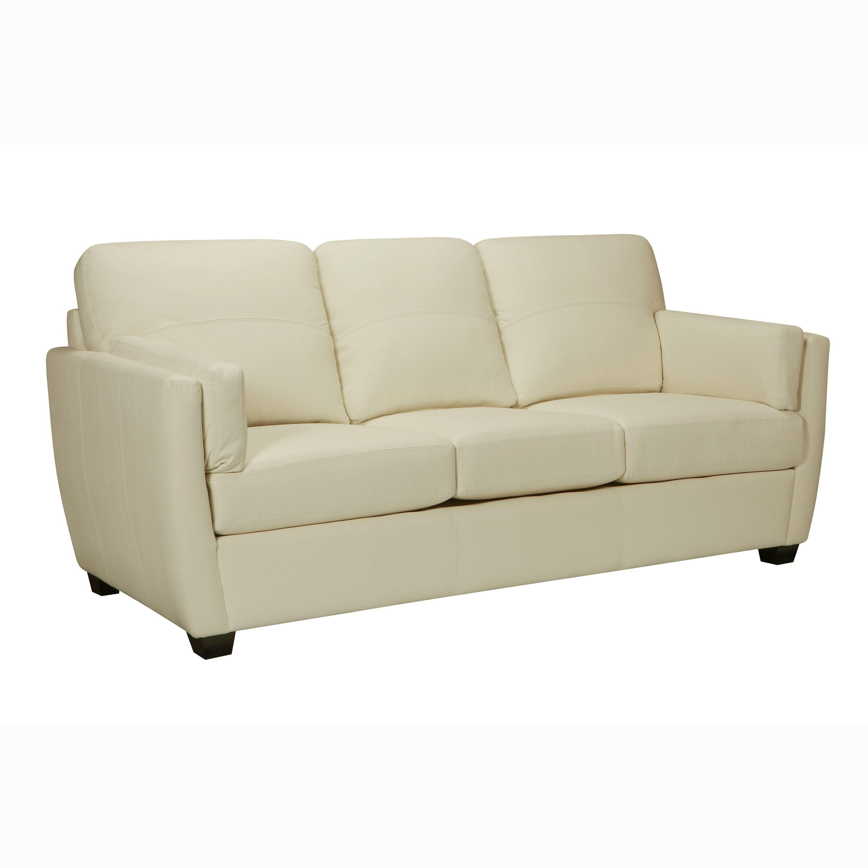 Groovy Hamilton Premium Ivory Top Grain Leather Sofa Cream Download Free Architecture Designs Scobabritishbridgeorg