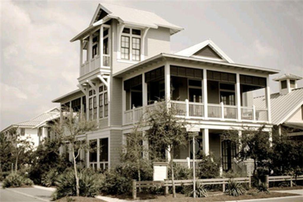 Houseplans Beach Front Elevation Plan #443-10 599 exteriors