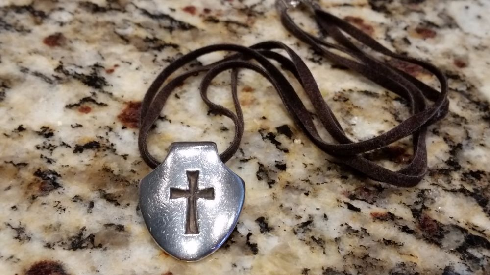 James avery sterling silver shield of faith cross slide pendant 16 james avery sterling silver shield of faith cross slide pendant 16 leather cord jamesavery aloadofball Images