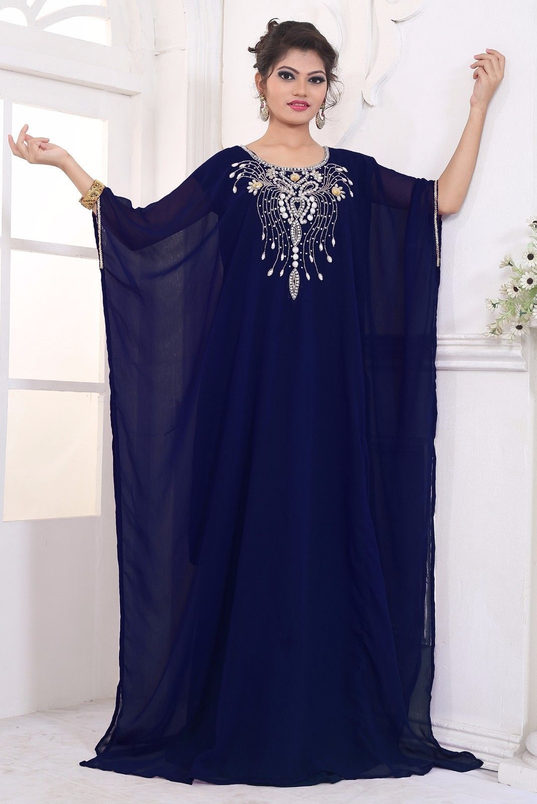 Weddings & Events Caftan Marocaine 2019 Luxury Beaded Dubai Kaftan Dress Three Quarter Sleeve Evening Dresses Saudi Arabian Prom Gown Formal Dress Crazy Price