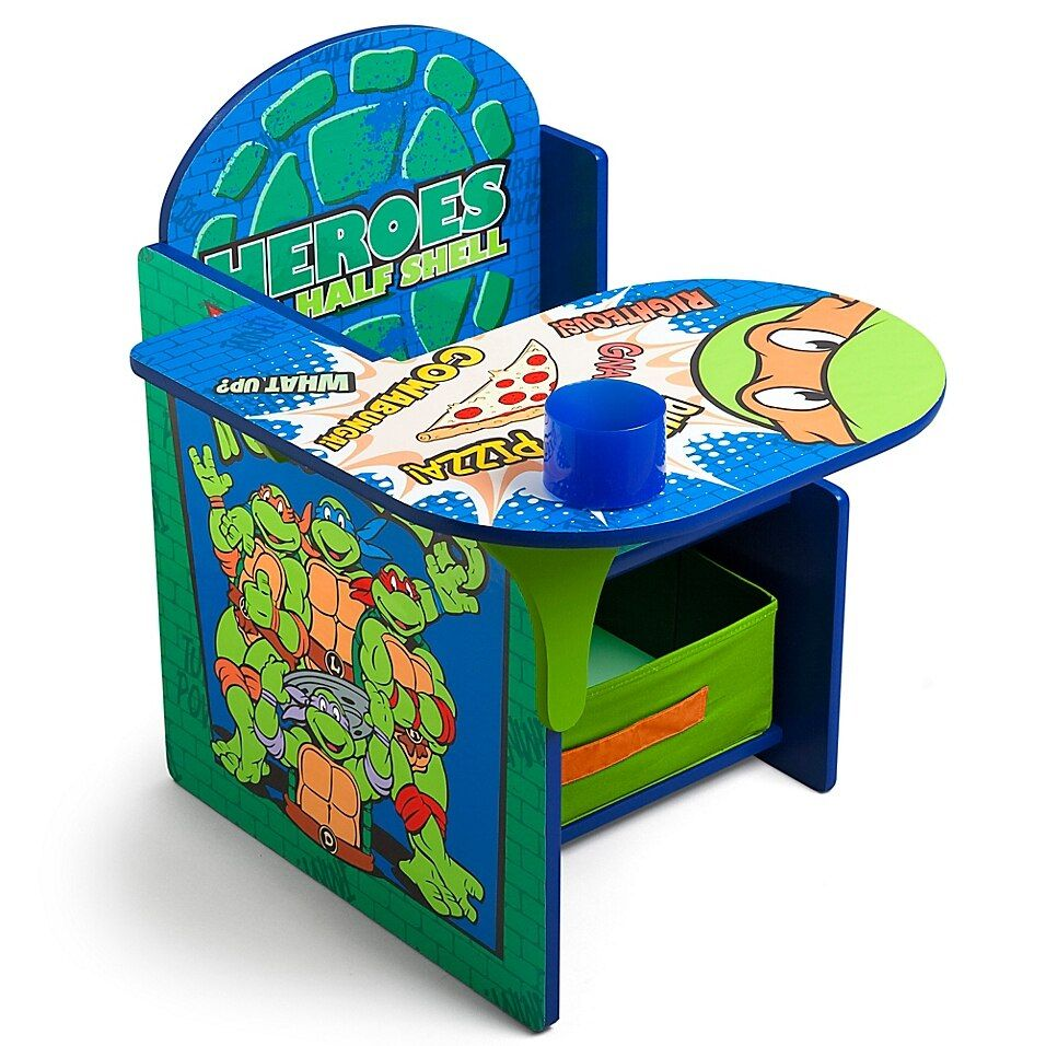 Nickelodeon Teenage Mutant Ninja Turtles Chair Desk With Storage Bin By Delta Children Buybuy Baby Ninja Turtle Bedroom Turtle Room Turtle Bedroom