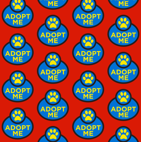Colorful Fabrics Digitally Printed By Spoonflower Adopt Me Dog