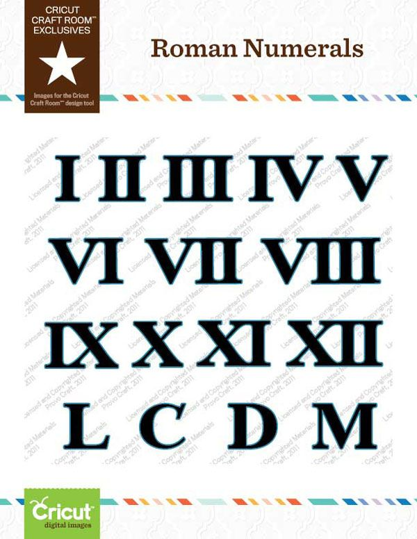 Roman Numeral Tattoos Font: Roman Numerals, Cricut, Roman