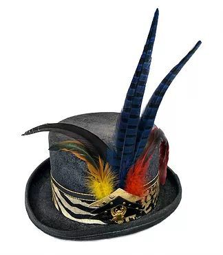 Futura Hats | Top Hats - Unique Design Steampunk hat for men \ women | Festival hat | Burning man top hat with feathers www.futurahats.com #festival #hats #burningman #coachella #tommorowland #Glastonbury #mardigras #futurahats #futurahat #tophat #hats #feathers #steampunk #steampunkhat #festivalhat #accessories #burningmanaccessories #festivalaccessories #madhatter #cylinderhat #aliceinwonderland