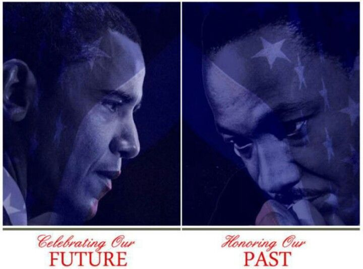 President Barack Obama & Dr. Martin Luther King....  2nd Inauguration....  Living The Dream....