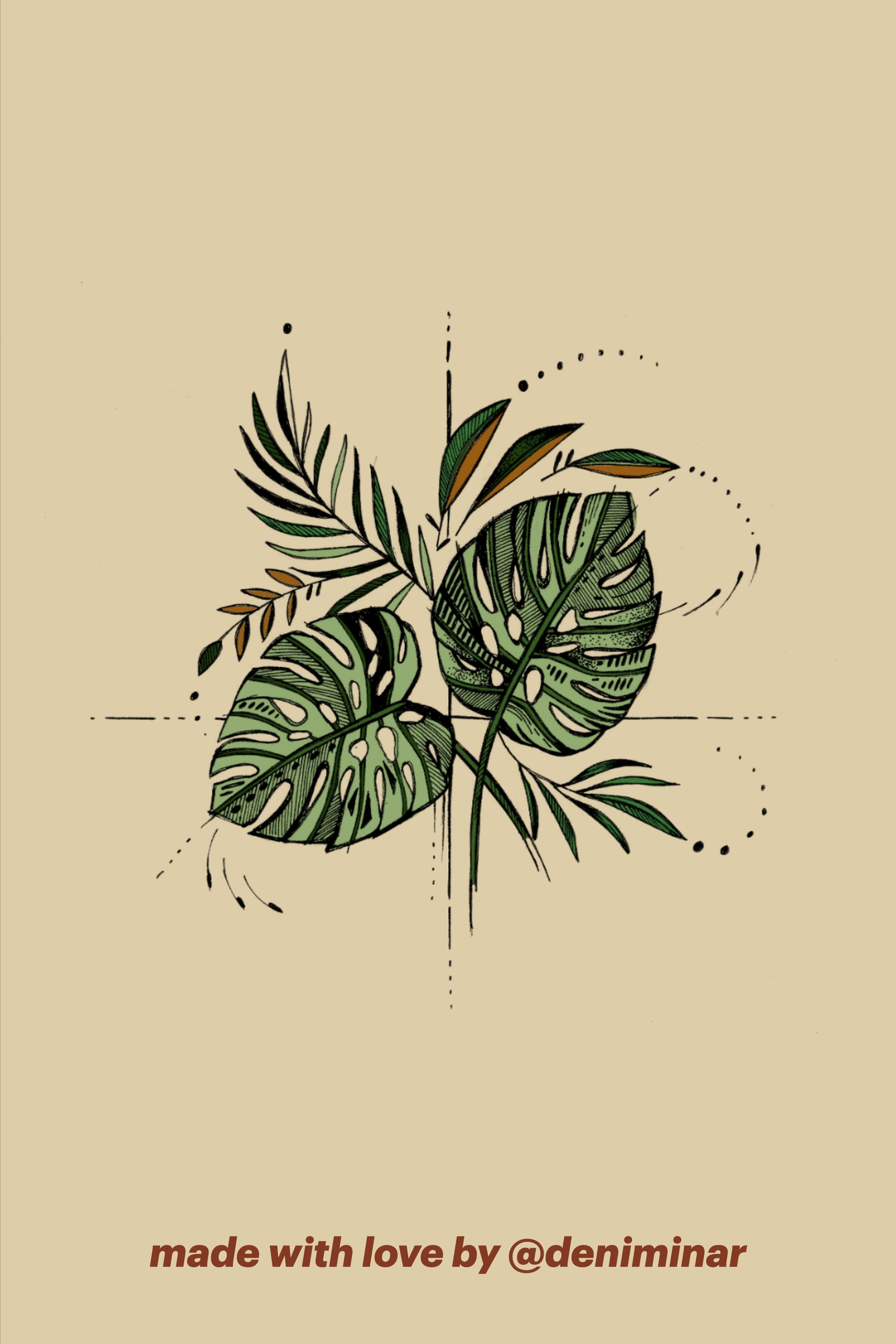 Monstera Plant Hand Drawn Instagram Highlight Covers Pack Instant Digital Download 24 Covers In 2020 How To Draw Hands Instagram Highlight Icons Instagram