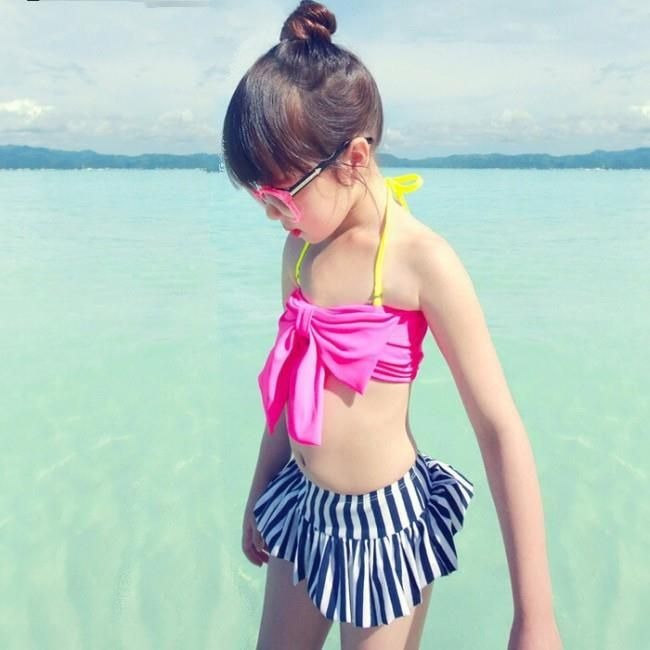 Sensational Striped #SummerSwimsuitbaby Price: 1500/- Sizes: 2-3 ...
