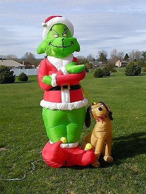 Large 8 Inflatable Grinch Wit Grinch Christmas