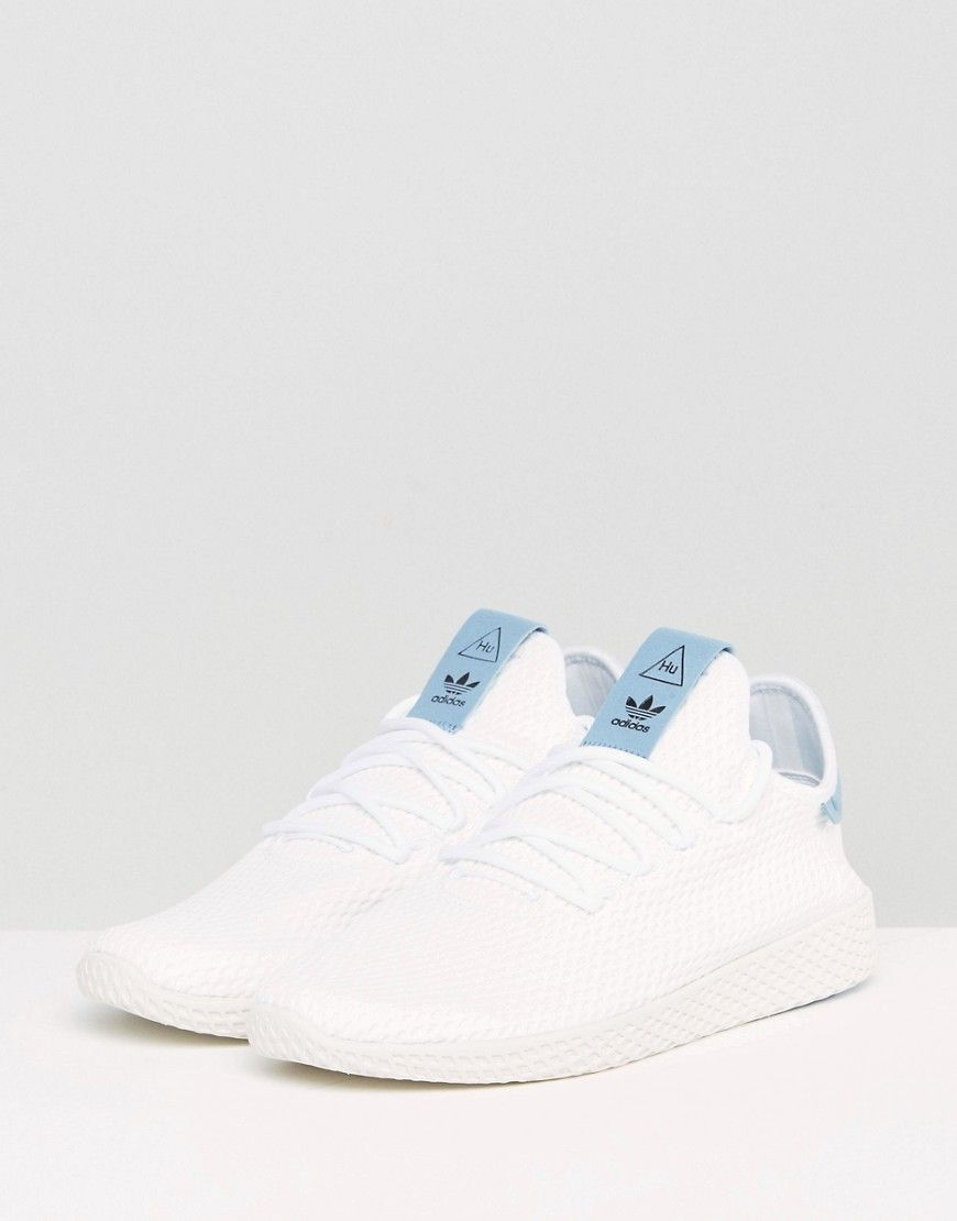 1c62e38ef5a99 adidas Originals x Pharrell Williams Tennis HU Sneakers In White BY871