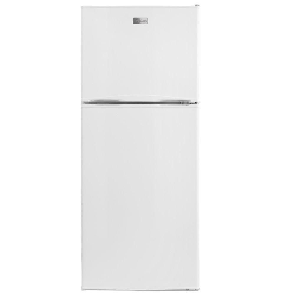 Frigidaire 10 Cu Ft Top Freezer Refrigerator In White Energy Star Ffet1022qw The Home Depot Top Freezer Refrigerator Refrigerator Apartment Size Refrigerator
