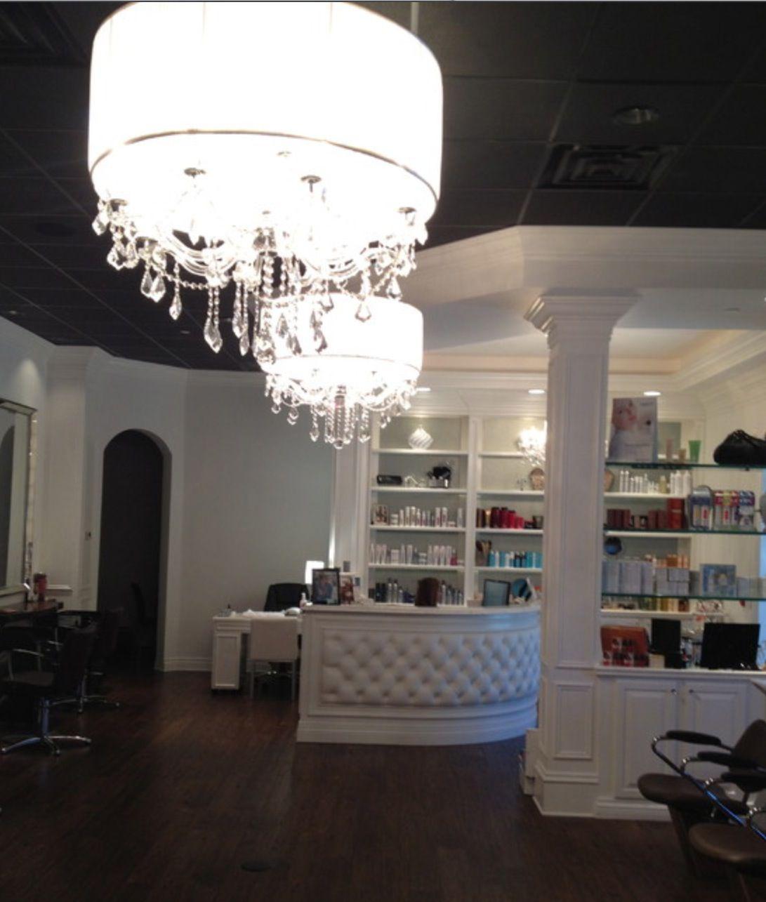 Hair salon | Dramatic Black and White | Pinterest | Salons, Salon ...