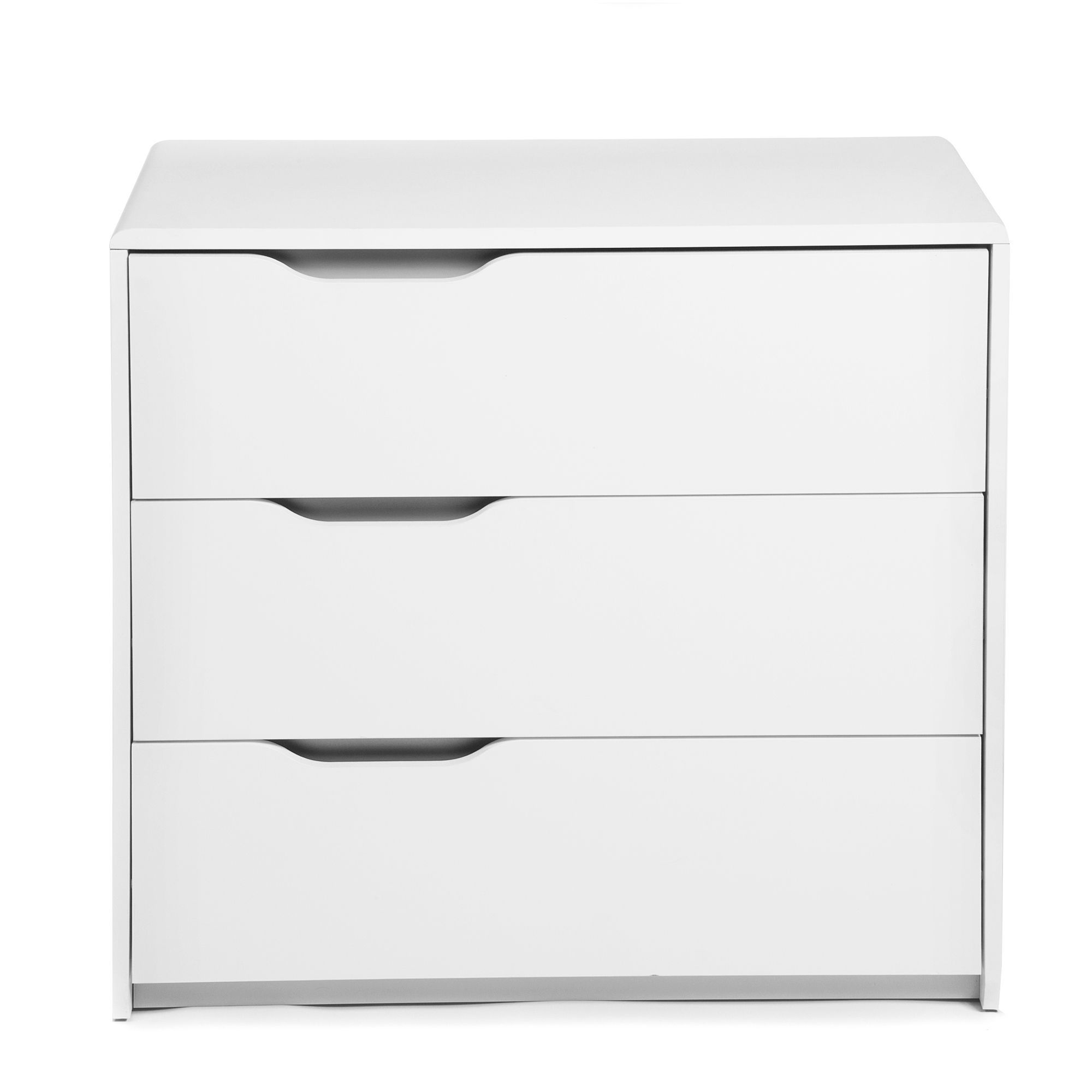 Commode blanche 3 tiroirs - Cool - Commodes-Commodes ...