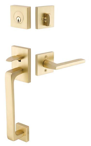 Baden Contemporary Lock Sets Tubular Entry Sets Emtek Products Inc Front Door Handles Modern Exterior Doors Exterior Door Hardware