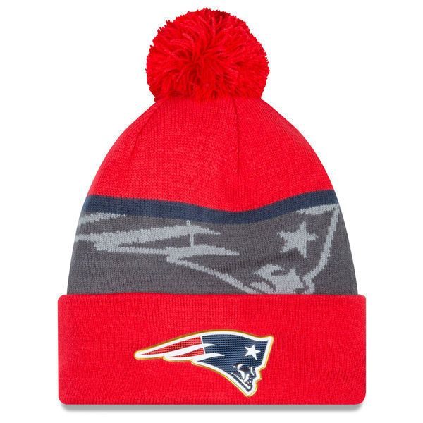 New England Patriots New Era Gold Collection Team Color Knit Hat ... b3ed3dff6ffd