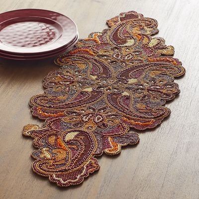 Fall Paisley Beaded Table Runner | Pier 1 Imports