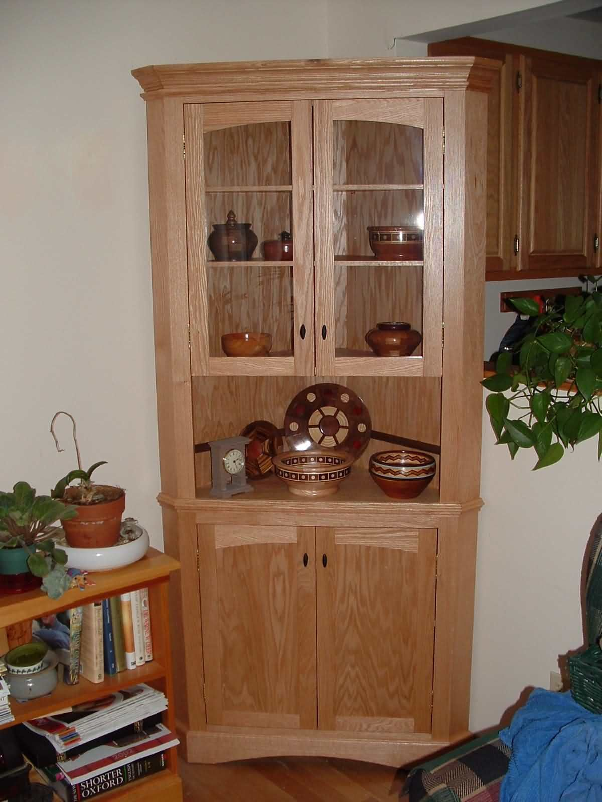 Handcrafted Corner Cabinet  Ideas For My Indoor Space  Pinterest Captivating Corner Hutch Dining Room Design Decoration
