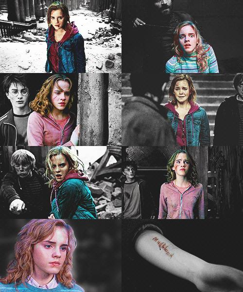 Hermione's battle wounds