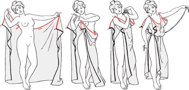 How To Make Greek Dress Pesquisa Google Halloween Pinterest