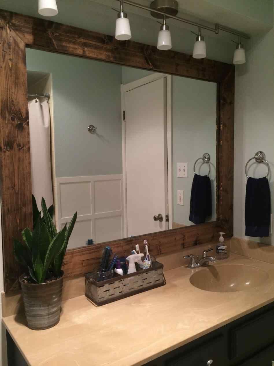 12 Awesome Diy Rustic Mirror Frame Design Ideas Rustic Mirror