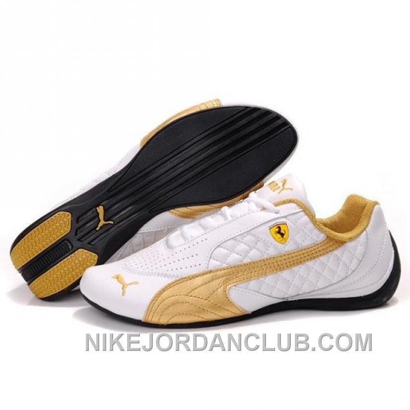 Puma Pace Cat II SF In WhiteGold Cheap To Buy