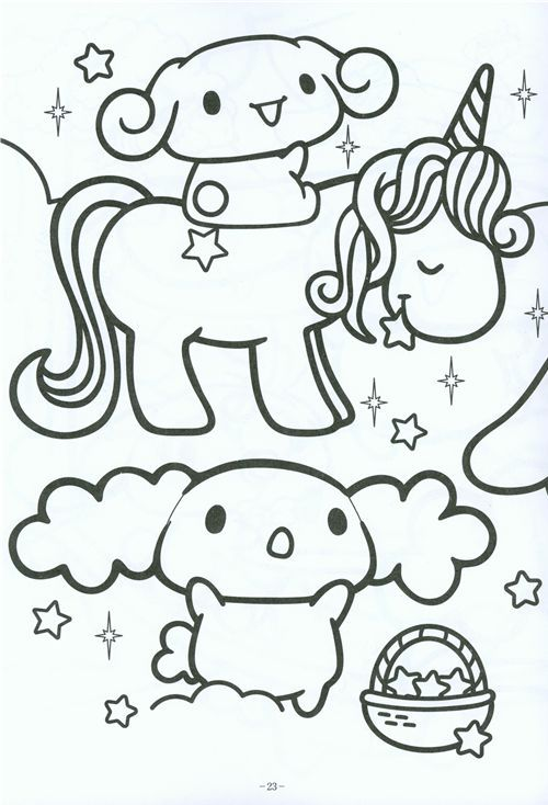 kawaii Cinnamoroll coloring book Sanrio Japan | Kawaii shop, Sanrio ...