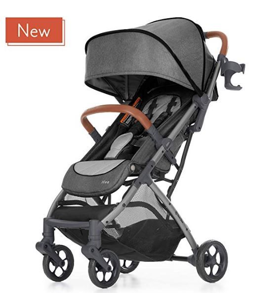 Good Baby Child Pram Pushchair Satin Black Lightweight Stroller Kids Qbit
