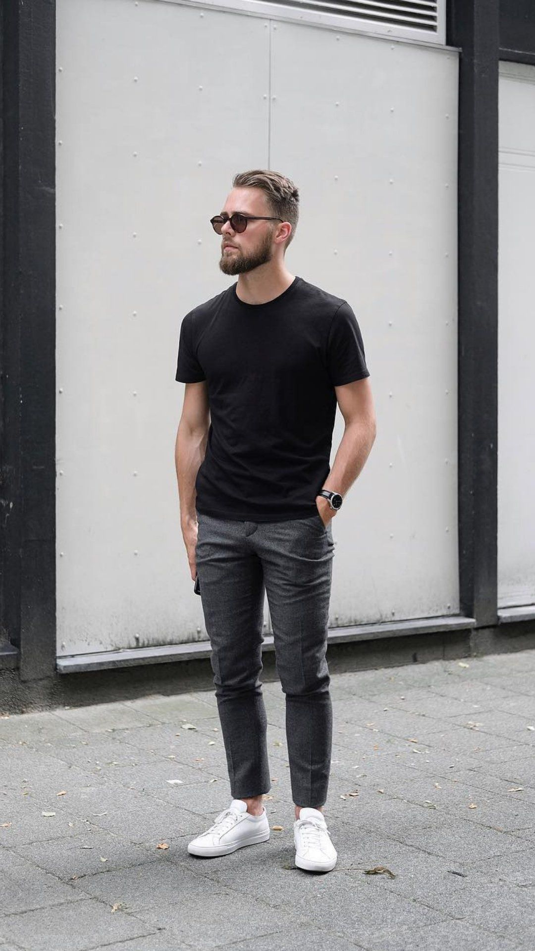 5 T Shirt Outfits You Ll Love To Wear On Repeat Minimalist Fashion Men Shirt Outfit Men Black Shirt Outfit Men