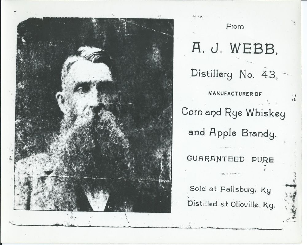 Photo Of A J Webb Distillery No 43 Olioville Ky Fallsburg Ky