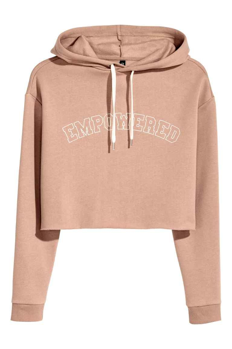 Womens Sweatshirts Rose Print/Crop Top Long Sleeve Black Drawstring Hoodies Hatop