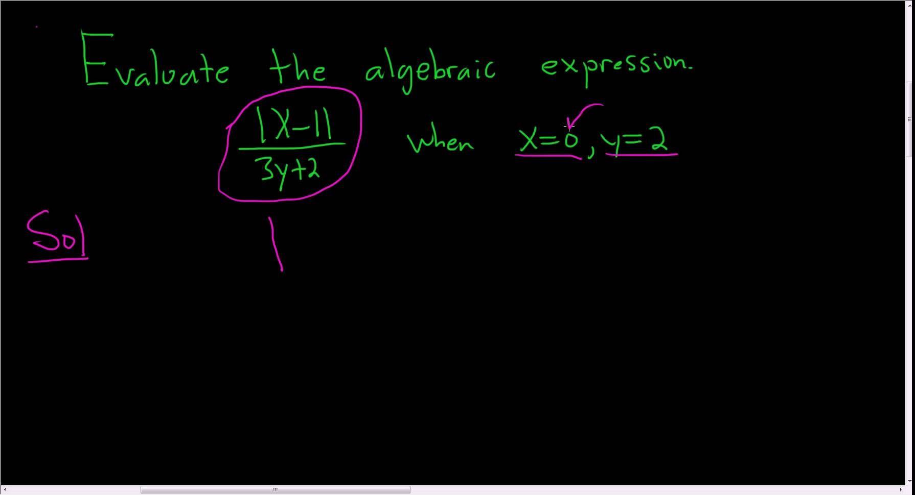 Evaluate the algebra expression example algebraic