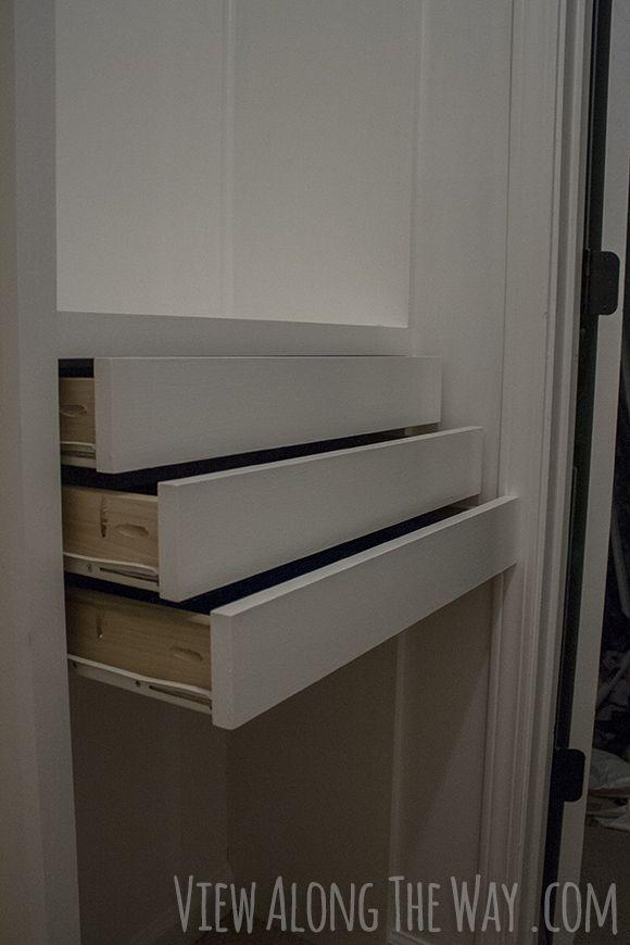 Diy Velvet Drawer Liners Tutorial How To Make Velvet Drawer Lining Diy Custom Closet Closet Drawers Custom Built Closets