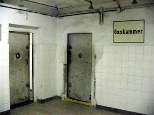 Gas Chamber at Mauthausen Concentration Camp. Gave me goosebumps - Mauthausen, Austria