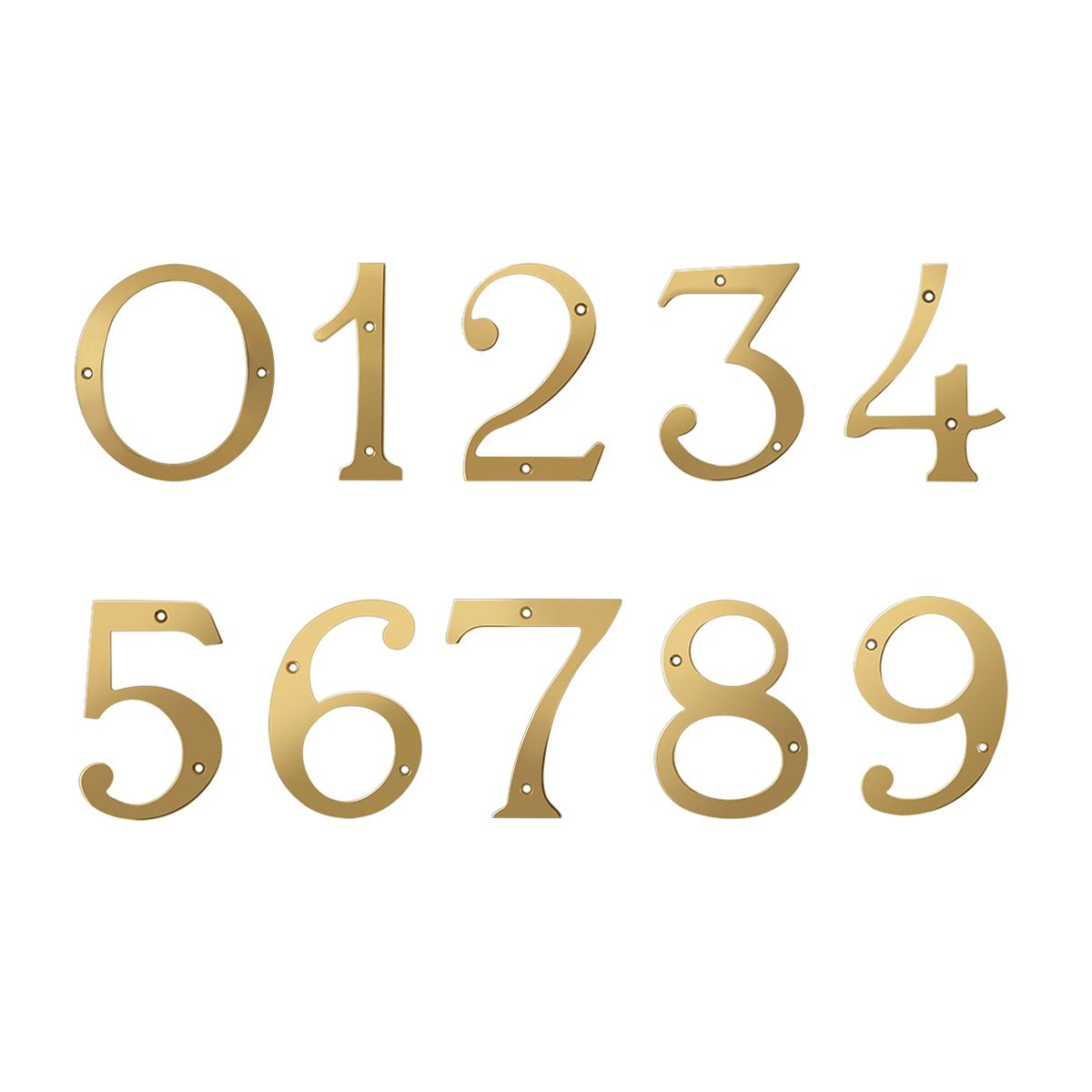 4 House Number Pvd Polished Brass House Numbers Craftsman House Numbers Oil Rubbed Bronze