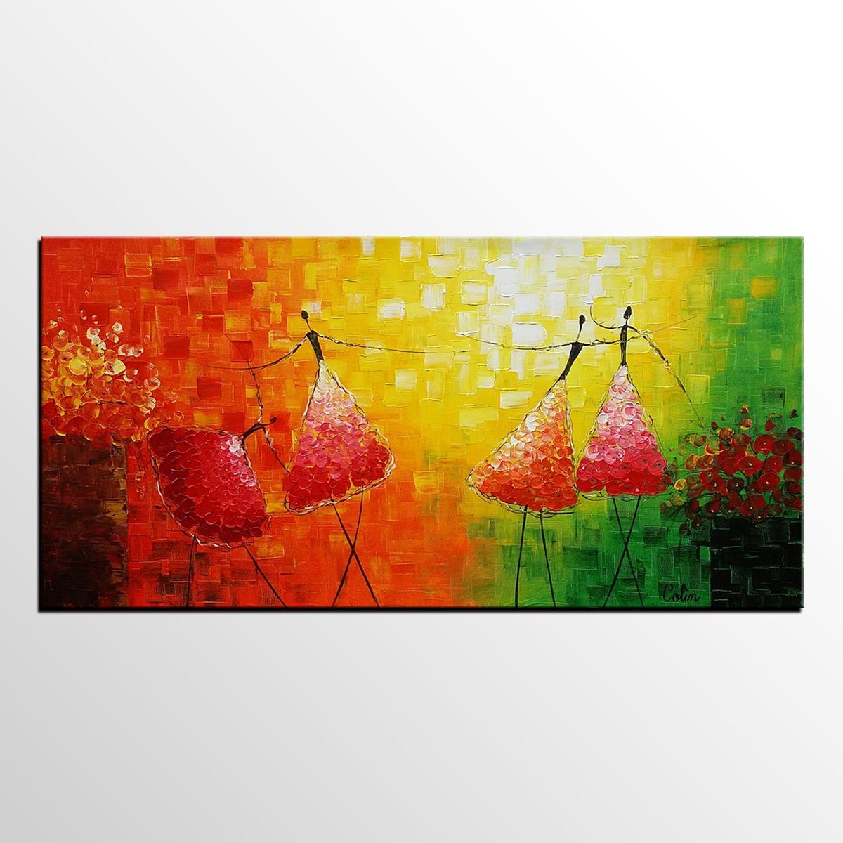 Ballet Dancer Painting, Original Wall Art, Abstract Painting ...