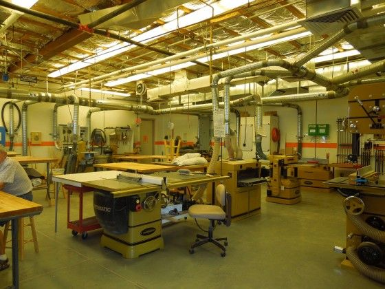 Fully Equipped Wood Shop Arizona Traditions Workshops In