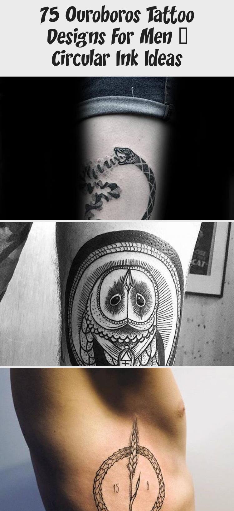 75 Ouroboros Tattoo Designs For Men Circular Ink Ideas