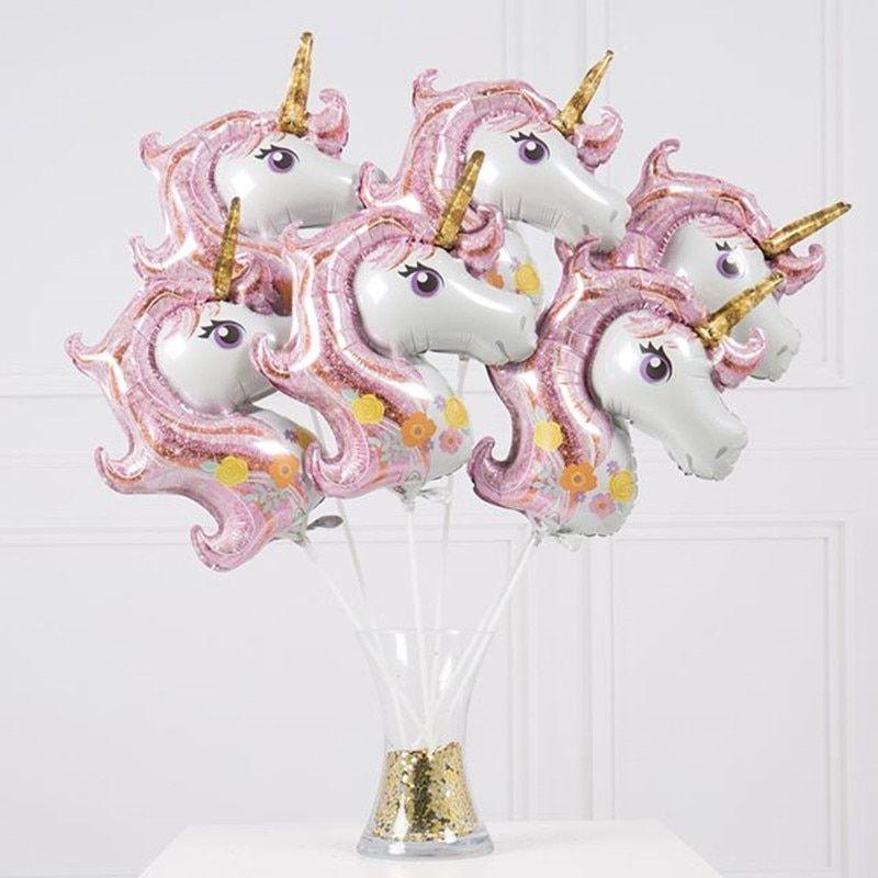 10pcs Rainbow Unicorn Balloons Latex Balloons Birthday Party Decoration Supplies